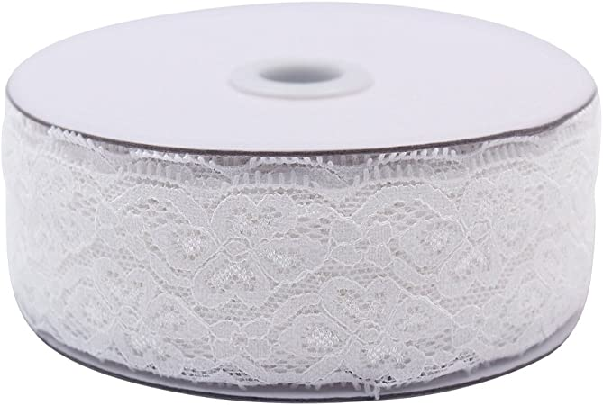 10 meters long x 6 inches wide lace ribbon roll in ivory cream