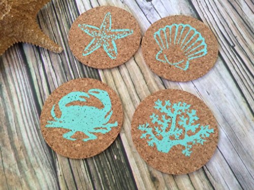 Tropical Drink Bar Cork Coaster Set
