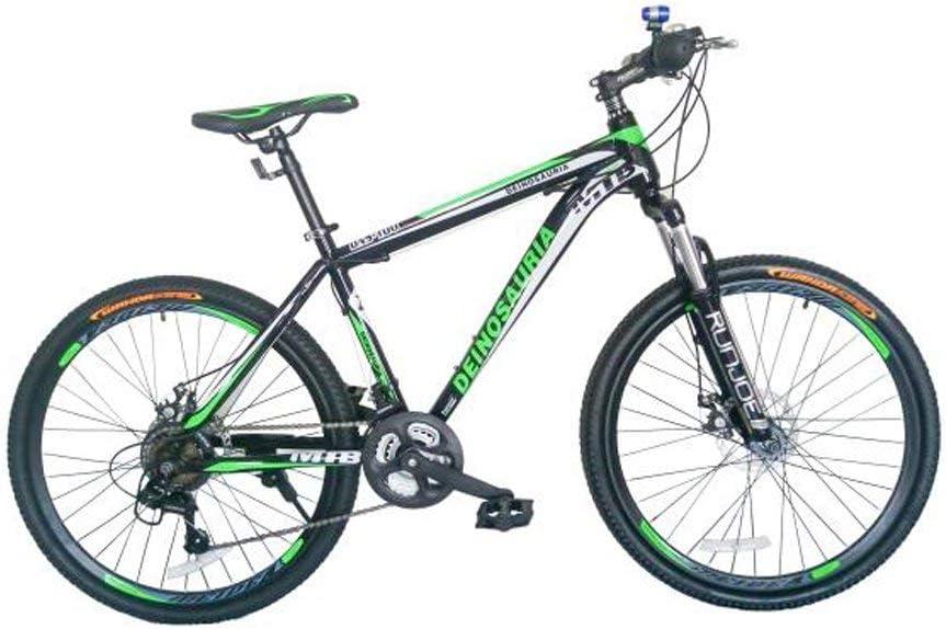 GOWAY マウンテンバイク クロスバイク 本体 SHIMANO21変速 26インチ マウンテン バイク BTM 自転車 機 械式ディスクブレーキ シマノ 21段ギア 通勤 通学 街乗り 鍵 ライト付 グリーン DNS
