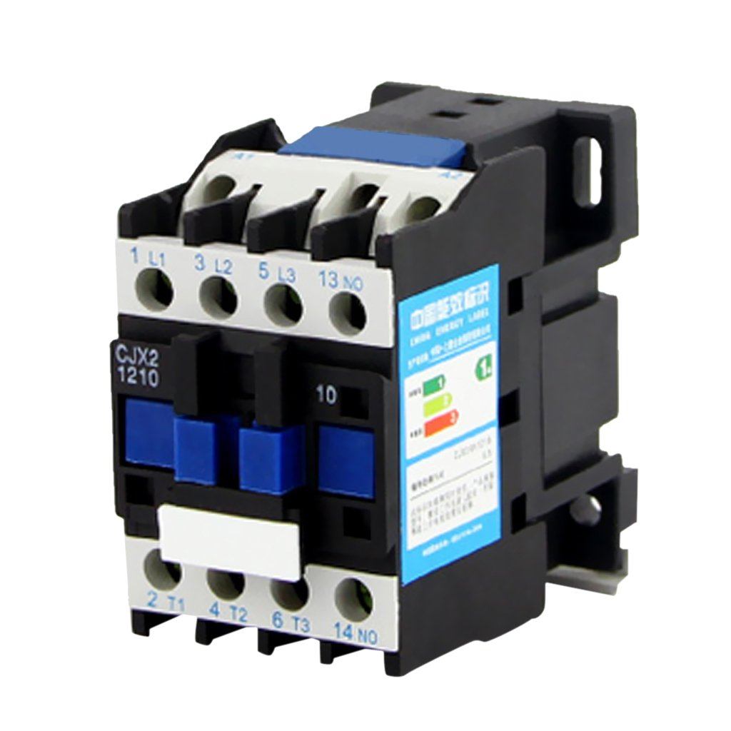 Dovewill CJX2-1210 380V AC Coil 3-Phase 1NO 50/60Hz Motor Starter Relay Contactor - 220V by Dovewill (Image #5)