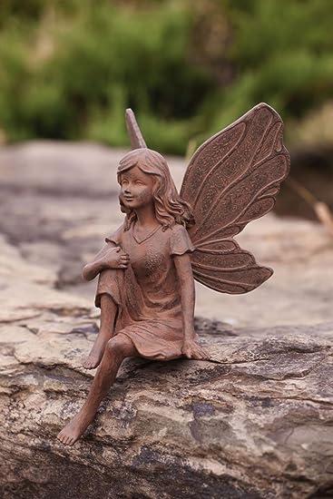 Amazoncom Earth Fairy Miranda Garden Statue Outdoor Statues