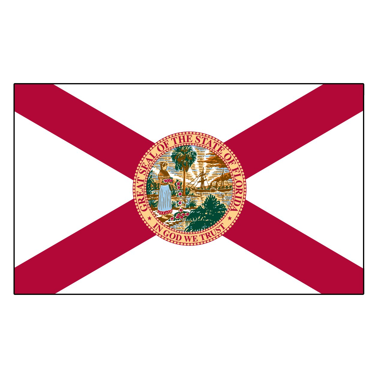 amazon com florida state flag 3x5 3 x 5 brand new banner usa