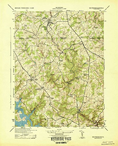 (YellowMaps New Freedom PA topo map, 1:31680 Scale, 7.5 X 7.5 Minute, Historical, 1944, 21.9 x 17.7 in - Paper)