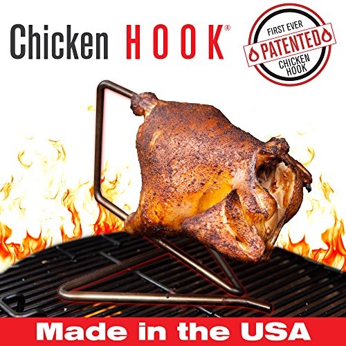 The Chicken Hook By The Elevated Cook Stainless Steel Inverted Suspension Chicken Roaster  Rotisserie And Beer Can Chicken Alternative