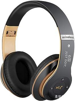 Auriculares inalámbricos Bluetooth altavoz de control de voz universal para teléfono móvil de subwoofer micrófono incorporado de reducción de ruido 6S para auriculares de orejera con manos libres: Amazon.es: Electrónica