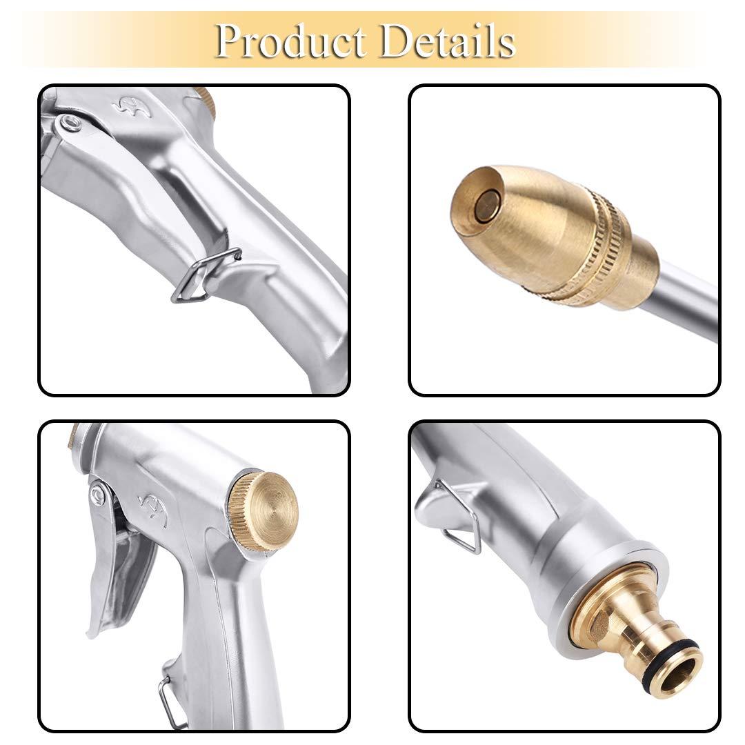 Crenova Spray Nozzle High Pressure Water Gun with Easy Flow Control Hose Nozzle
