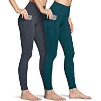 TSLA High-Waist/Mid-Waist Yoga Pants with Pockets, Tummy Control Yoga Leggings, Non See-Through 4 Way Stretch Workout…