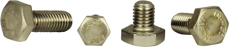 Eisenwaren2000 2 St/ück Edelstahl A2 V2A Sechskantschrauben mit Gewinde bis Kopf M16 x 100 mm ISO 4017 Sechskant Schrauben Vollgewinde - DIN 933 rostfrei Gewindeschrauben