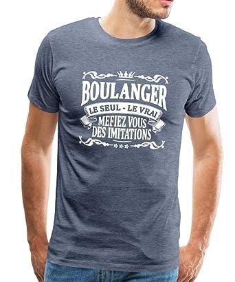 Spreadshirt Boulanger Le Seul Le Vrai T-Shirt Premium Homme: Amazon.fr: Vêtements et accessoires