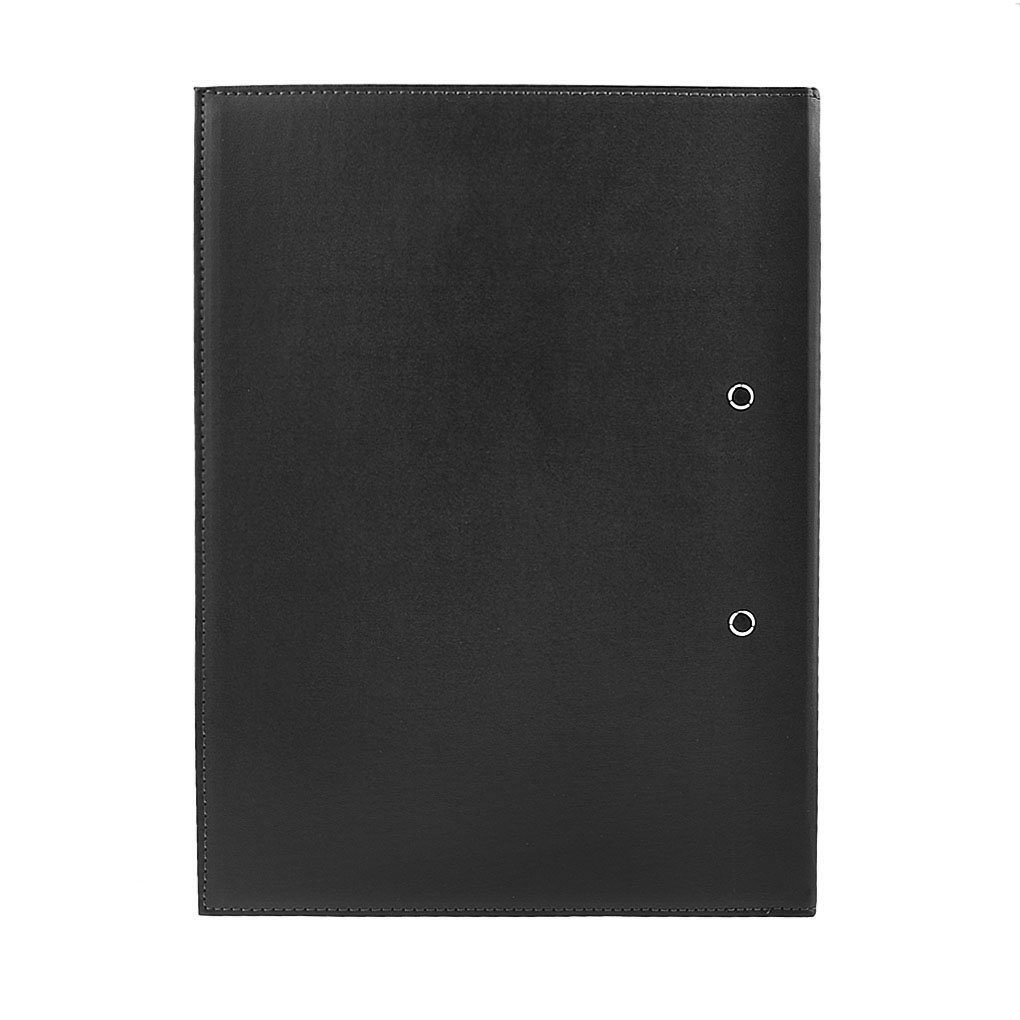 Clobeau Upscale Leather A4 Lever Arch File Cover Clipboard Paper Documents Storage Folders Binder Clip Portfolio Writing Board Pad Tablet Project File Folder with Double Paper Clips Office Stationary by MoonLove (Image #4)