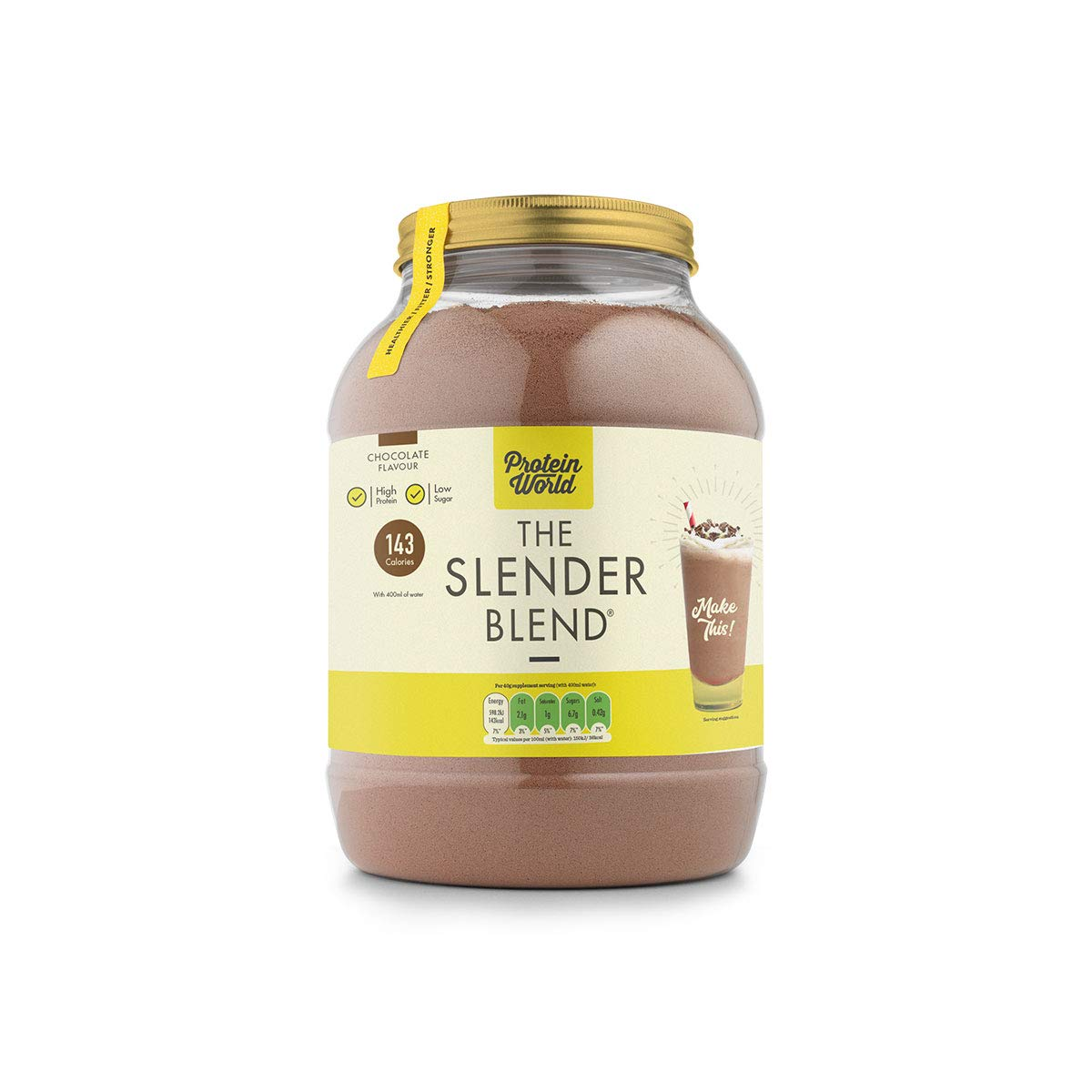 4c3787f0db ... Gluten Free, Soy Free, Kosher, Halal, 143 calories per serving, High in  Protein, Meal Replacement, Post Work-Out Shake- Chocolate Flavour 2.6 LBS  …e: ...