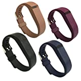 4PCS Replacement Silicone Band for Fitbit Flex Wristband Strap with Buckle/ Fastener Small / Large