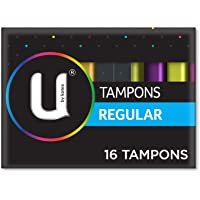 U BY KOTEX Tampons U by Kotex Tampons, Regular (Pack of 16), 0.050 kilograms