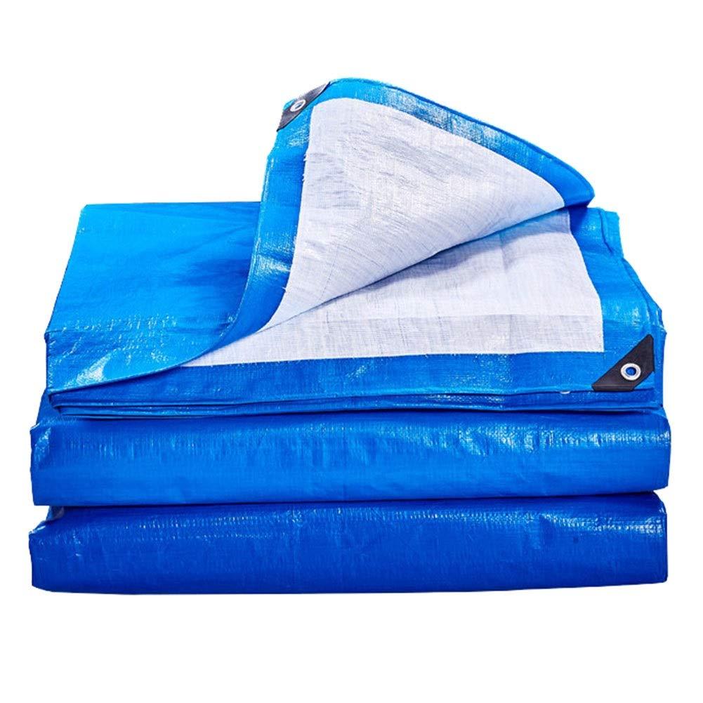 BÂche Antipluie Imperméable Bleue Avec Oeillet En Métal, BÂche De Couverture De Qualité Supérieure De BÂche De Couverture Résistante Pour Le Camping Extérieur, 170g   (taille   10×12m)  10×