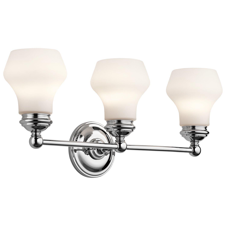 クロムCurrituck 23.25 in。Wide 3-bulbバスルーム照明器具 B00NGUM4KU