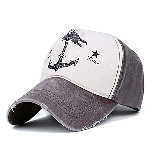 e05dc4721e3 Xuzirui Adjustable Dad Hat Vintage Pirate Ship Anchor Baseball Cap  Multicolor Stitching Snapback Hat Cotton for