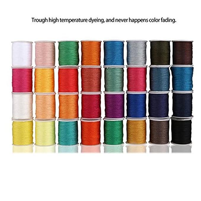Máquina de coser portátil de RainRR; doble velocidad, colores blanco y morado.: Amazon.es: Hogar