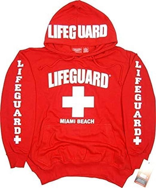 Precio al por mayor 2019 captura diversificado en envases Lifeguard Miami Beach Hoodie Sweatshirt