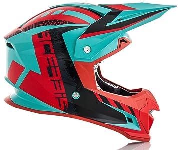 Acerbis 0022821.379.064 Casco (Verde/Rojo, ...