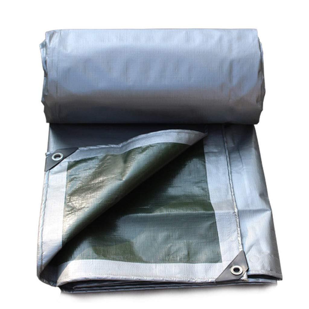 ZJ-ターポリン 軍隊緑色の銀の防水雨布日焼け止め天幕布を厚くする屋外サンシェード (サイズ さいず : 4 * 4m) 4*4m  B07HT86ZT2