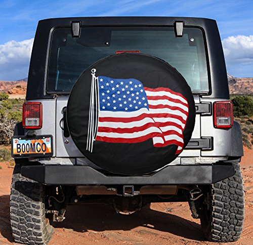 Spare-Tire-Cover-PVC-Leather-WaterProof-Dust-proof-Universal-Spare-Wheel-Tire-Cover-Fit-for-JeepTrailer-RV-SUV-and-Many-Vehicle-14-15-16-17-DIY-17-14-for-diameter-23-27