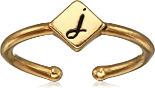 product image for Alex and Ani Women's Initial J Adjustable Ring, 14kt Gold Plated