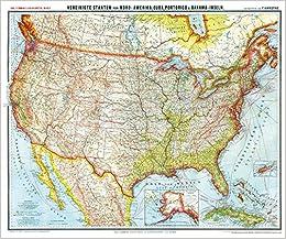 General Karte Von Vereinigte Staaten Von Nord Amerika Usa Cuba
