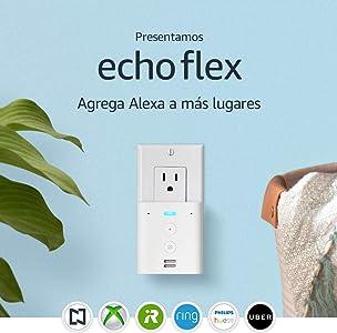 Presentamos Echo Flex - Mini bocina inteligente de enchufe con Alexa