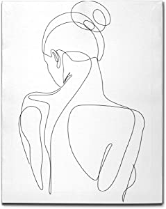 simono Canvas Wall Art Female Back Minimalist Line Drawing Pictures Painting Rustic Farmhouse Modern Gallery Home Decor