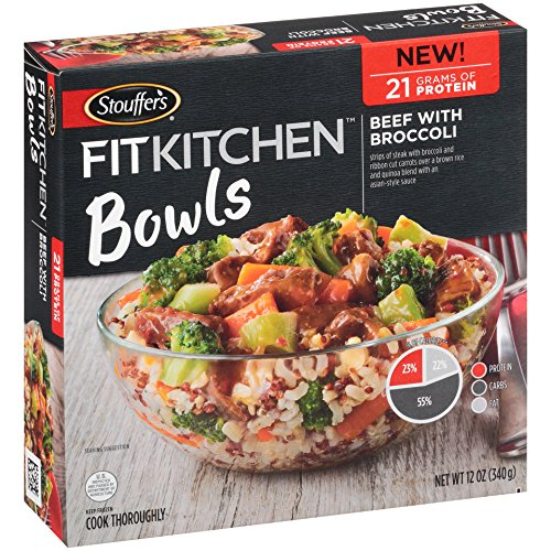 Stouffers Fit Kitchen Bowls Beef with Broccoli, 12 oz (frozen) ()