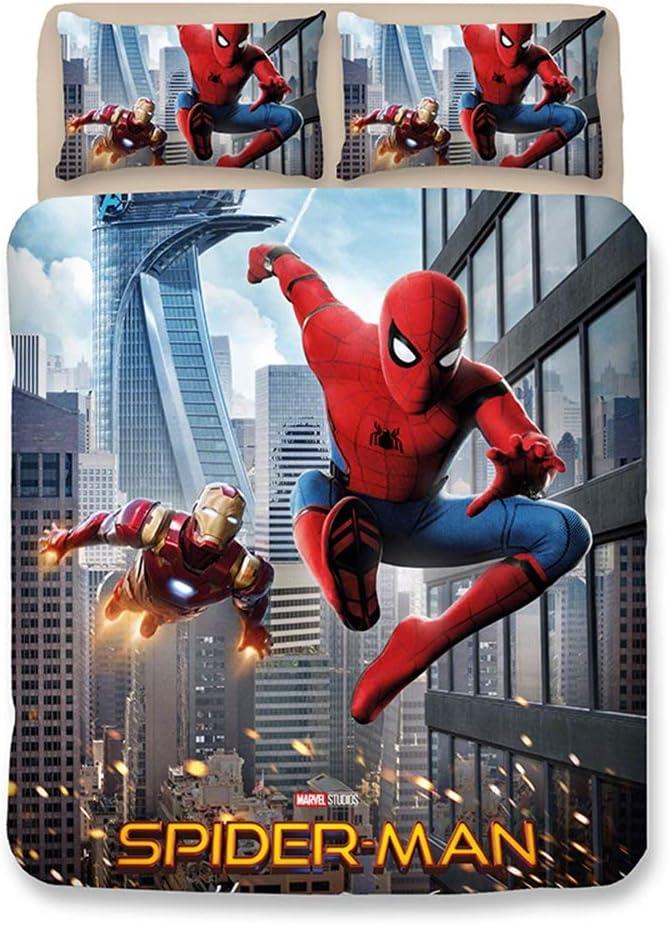 Fxwj Spider-Man Juego de Ropa de Cama para niños con Funda de ...