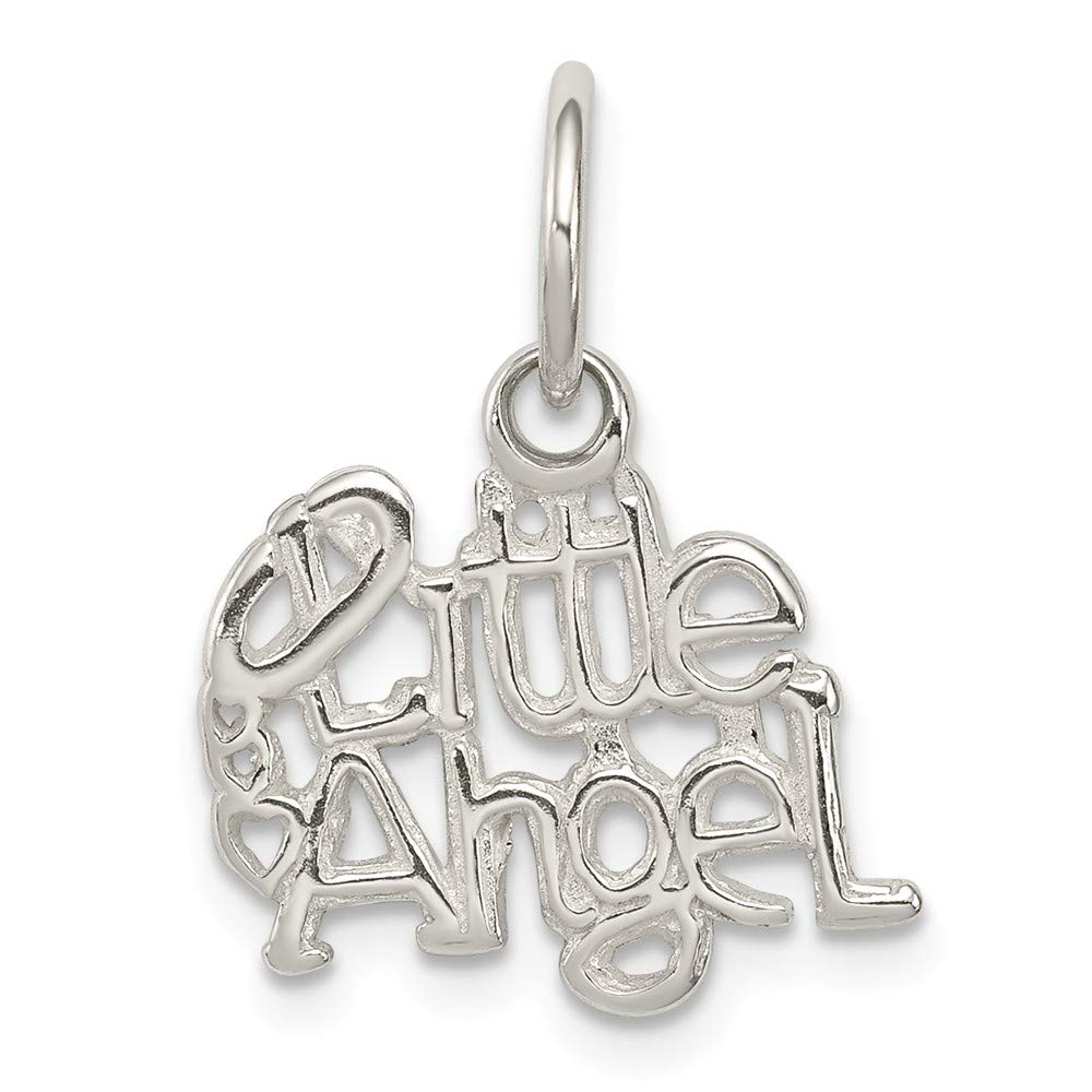 FB Jewels Solid 925 Sterling Silver Little Angel Charm