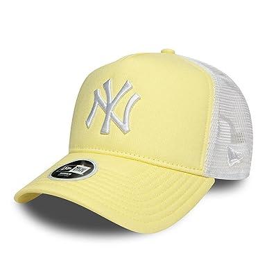 New Era Cap – Ajustable MLB New York Yankees Leag Esntl Trucker Yellow White  Size b457e2c48983