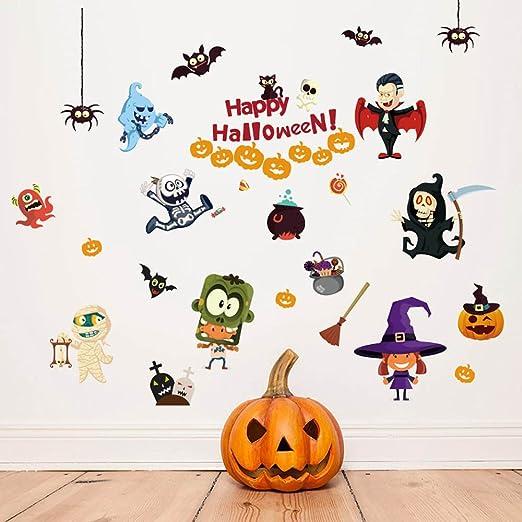 Baojunht Halloween Decor Chambre D Enfant Sticker Mural Couleurs