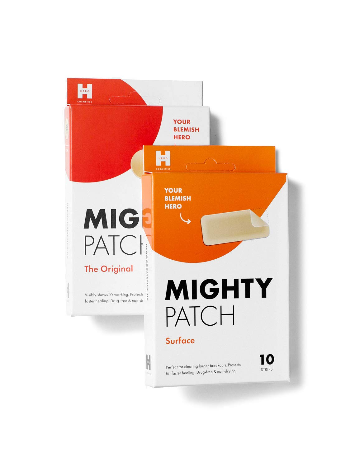 Mighty Patch Original & Surface Bundle - Acne Patches for Small and Large Treatment of Pimples. Clean, Vegan-Friendly, Cruelty-Free