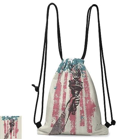 Amazon.com: Yoga backpack American Flag Decor Abstract Usa ...