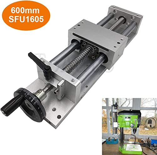 Manual Linear Stage Sliding Table Ballscrew 1605 Linear Guides Cross Slide Table SFU1605 Travel length L100 200 300 400 500 600mm 600mm