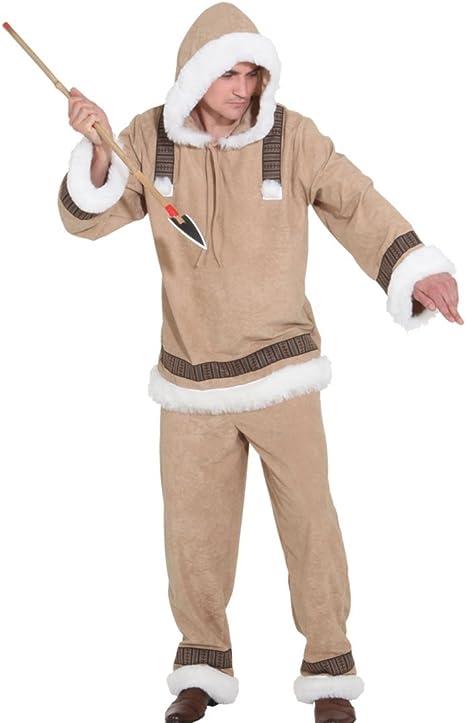 NET TOYS Disfraz de Esquimal para Hombre Traje de Esquimal: Amazon ...