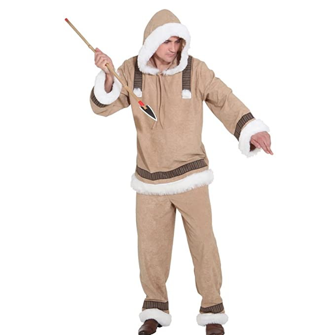 NET TOYS Disfraz de Esquimal para Hombre Traje de Esquimal ...