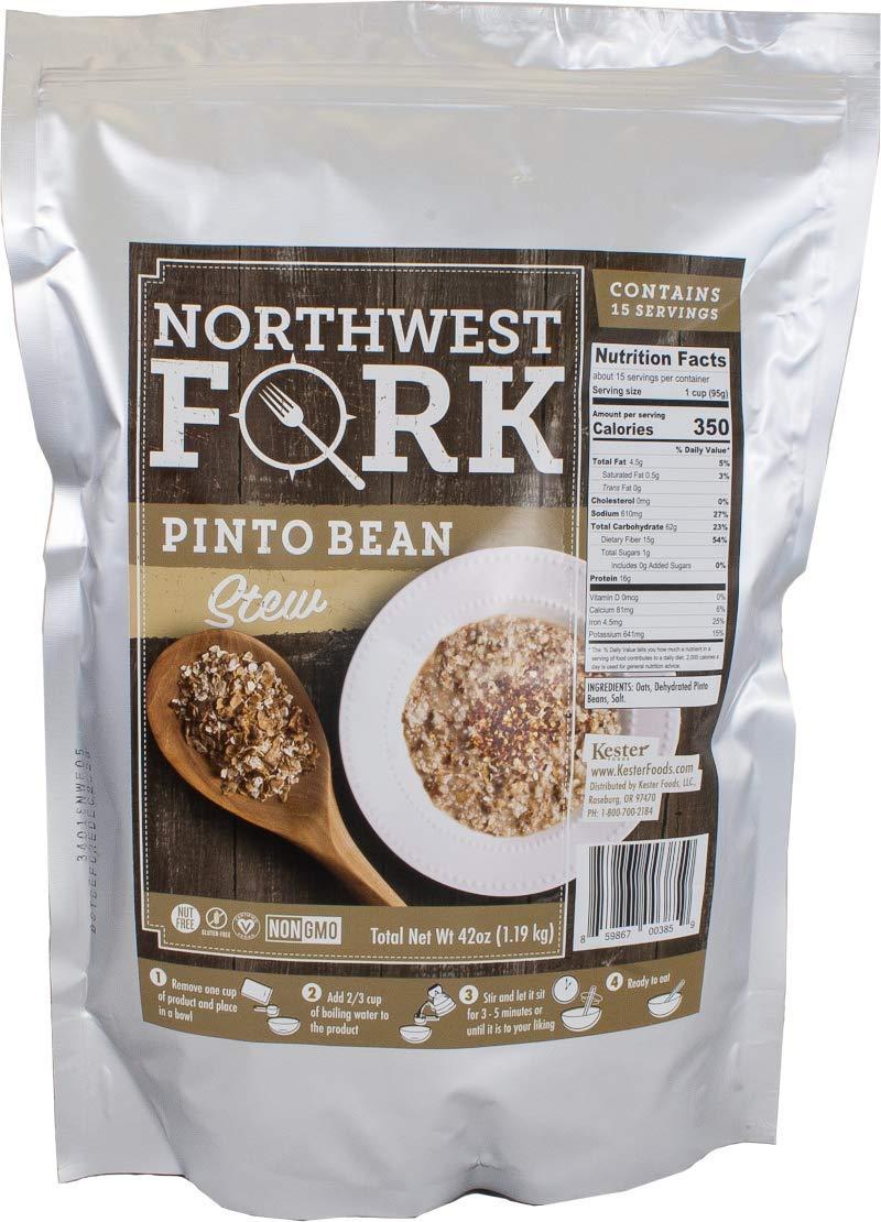 NorthWest Fork Pinto Bean Stew (Gluten-Free, Non-GMO, Kosher, Vegan) 15 Serving Bag - 10+ Year Shelf Life by NorthWest Fork