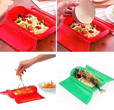 Vaporizador de silicona para horno microondas y cocina (color al ...