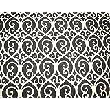Grey Geometric Microfiber Upholstery Fabric Nuance
