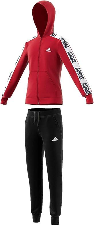adidas Yg Hood Cot TS Chandal, Niñas, Marrón (Active Maroon/White ...