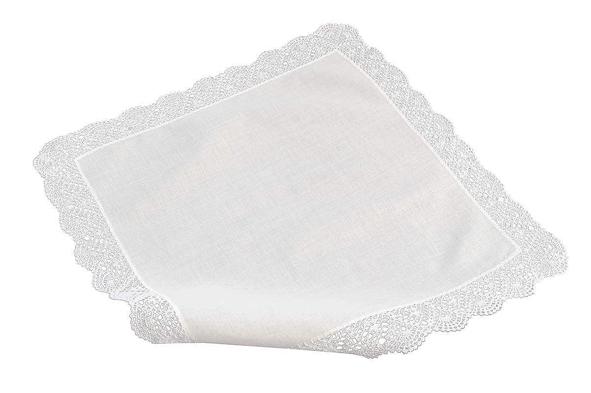 handgearbeitet und handrolliert mit breitem weissen Rand coolkaufen H/äkeltaschentuch