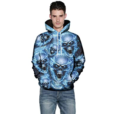 2efd2aa7f58d ... Herren Pullover Kapuzenpullover Hoodie Sweatshirt Jungen  Kapuzenpullover Hooded Sweatshirt 3D Druck Hoodie Kapuzenpullover M-5XL   Amazon.de  Bekleidung