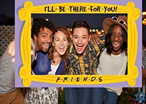 Friends Party Decorations-Friends Themed Photo Booth Props for Graduation Party,Birthday Party Supplies,Bachelorette Party Decorations,2021 Graduation Selfie Photo Booth Props Frame