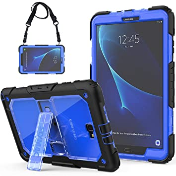 info for 7fa9c 539ed SEYMAC Galaxy Tab A6 10.1 Case Full Body Rugged Shock Drop Protective Case  with Stand/Strap for Tab A 10.1 2016/2018 Tablet(SM-T580/SM-T581/SM-T585,No  ...