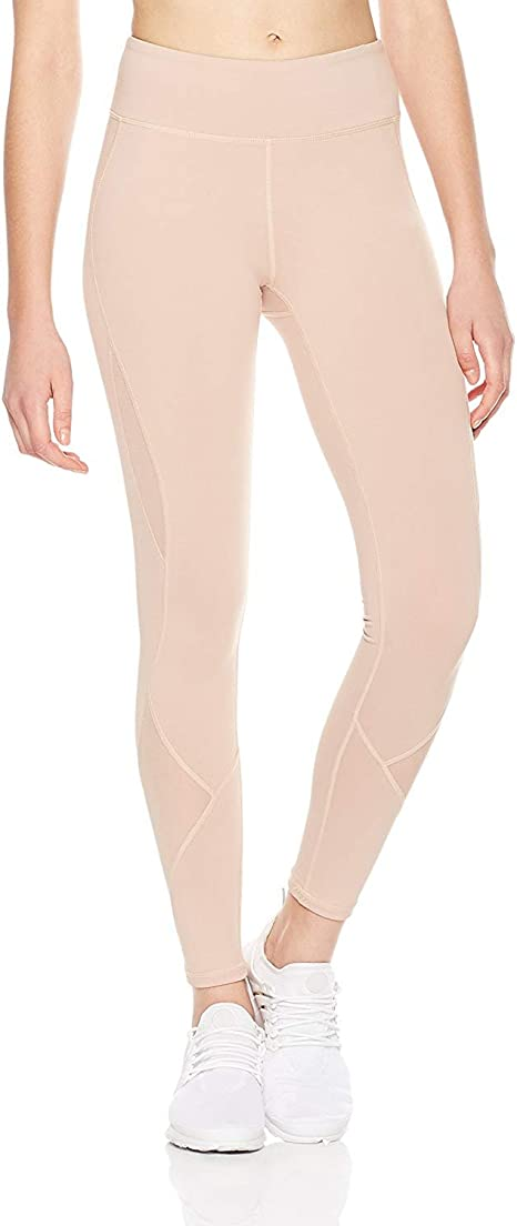 7GOALS Womens Mesh Yoga Pants with Pockets, Full-Length Workout Leggings Non See-Through High Waist Pants