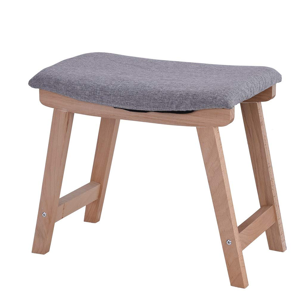 Lebeauty Vanity Stool, Makeup Bench Dressing Stool, Padded Cushioned Chair, Piano Seat, Vanity Modern Concave Seat Surface Makeup Dressing Stool Padded Bench with Legs 18.9 x 11.8 x 15.7 inch