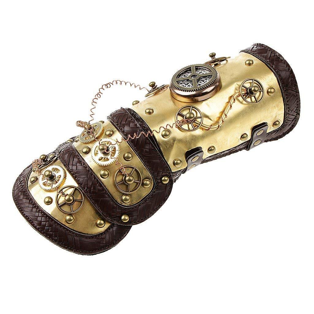 Queta Steampunk Mechanische Handschuhe Armring Zubehör Bühne Performance Party Requisiten
